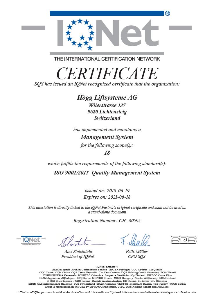 ISO 9001:2008 Qualitätsmanagementsystem IQ Net